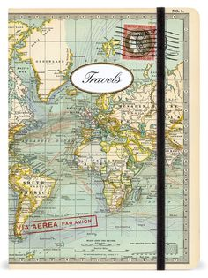 Amazon.com : Cavallini Notebooks World Travels 6 x 8 : Stationery Notepads : Office Products