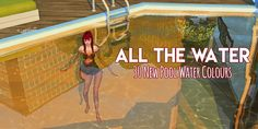 ALL THE WATER – by amoebae 30 new pool water colours, in a selection of both bright and subtle shades. Combine with similar wall and floor colours to compliment the effect, or pick contrasting colours for some interesting results! (I recommend trying...