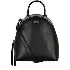 DKNY Bryant Park Mini Backpack ($225) ❤ liked on Polyvore featuring bags, backpacks, backpack bags, zip top bag, initial bags, checkered backpack and dkny backpack