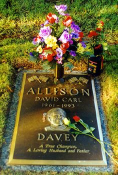 "Davey Allison (1961 - 1993) NASCAR Driver. Born in Hollywood, Florida, David ""Davey"" Allison was born the son of NASCAR series champion Bobby Allison and the nephew of NASCAR driver Donnie Allison."