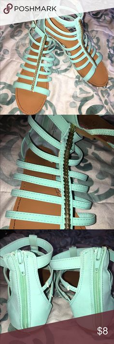 Open toe sandels What a beautiful color, in great shape this would look cute with anything that matches the color. Size 10 rouge  Shoes Sandals