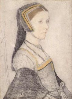 Anne Cresacre, 1511-1577, by Holbein the Younger. Anne was the ward, then the daughter-in-law of Sir Thomas More, the wife of his son John. (Not Frances Stuart, Duchess of Richmond and Lennox, 1647-1702!)