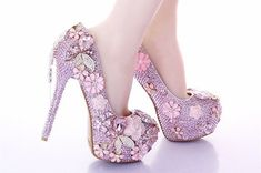 Items similar to Custom Womens Wedding Shoes, Formal Shoes Pink Flowers Swarovski Crystal Rhinestone High Heel Bling Shoes, Pointed Toe, Bridal Bling Shoes on Etsy Rhinestone Shoes, Bling Shoes, Crystal Rhinestone, Swarovski Crystals, Pink Wedding Shoes, Bridal Shoes, Wedding Dress, Bow Boots, Bridal Bangles