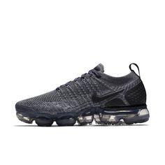 Nike Air VaporMax Flyknit 2 Metallic Women's Shoe Size 11.5 (Dark Grey) Mulheres Correndo, Preto E Branco, Tênis Todo Preto, Chuteiras, Tênis De Corrida, Wolf