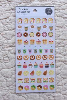 Food Sticker Sheet   Planner Sticker Sheet - journaling, letter writing, paper craft - 0661