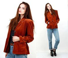 Cordyroy Jacket / Corduroy Blaer / Large Women Jacket / Summer Jacket / Cotton Jacket / Tan Brown Jacket by Ramaci on Etsy