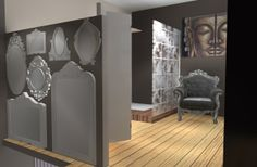 Appartement duplex avec terrasse on Behance. Réalisé par Lauriane Bernard