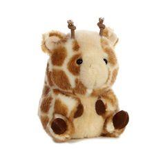 Giminy Giraffe Rolly Pet 5 inch - Stuffed Animal by Aurora Plush Foxy Plush, Kawaii Plush, Pet 5, Pet Pigs, Cute Stuffed Animals, Cute Toys, Kids Toys, Children's Toys, Animales