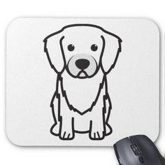 Tibetan Spaniel Dog Cartoon Mouse Pad