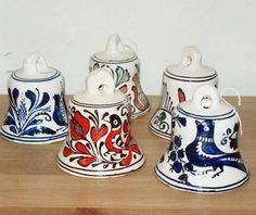 Clopotei ceramici de Corund Traditional Art, Sugar Bowl, Bowl Set, Ideas, Thoughts