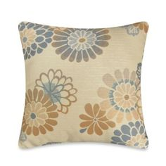 Callington Moonstone Square Throw Pillow in Blue - BedBathandBeyond.com