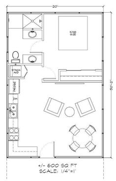 Nice Floor Plan For Temporary House While Real One Being Built.