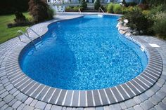 Vinyl pool with interesting coping/decking