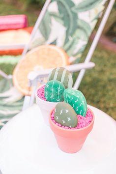 + Flamingo Themed Summer Party Rock cactus centerpieces from a Cactus + Flamingo Themed Summer Party on Kara's Party Ideas Llama Birthday, 12th Birthday, First Birthday Parties, Birthday Party Themes, First Birthdays, Fruit Birthday, Birthday Ideas, Party Fiesta, Taco Party