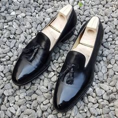 Men's Handmade black color fashion loafers,mens loafers and slip ons,Dress Shoes sold by Lajuria. Shop more products from Lajuria on Storenvy, the home of independent small businesses all over the world. Mens Loafers Shoes, Tassel Loafers, Men's Shoes, Dress Shoes, Mens Boots Fashion, Leather Fashion, Look Formal, Men Formal, Derby