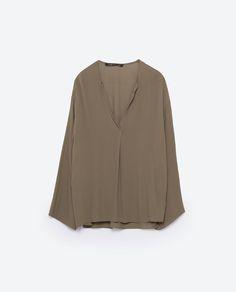 Image 8 of V-NECK BLOUSE from Zara