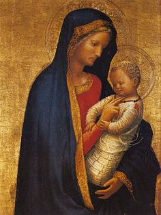 Madonna del solletico AutoreMasaccio Data1426-1427 Tecnicatempera su tavola a fondo oro Dimensioni24,50 cm × 18,20 cm  UbicazioneUffizi, Firenze