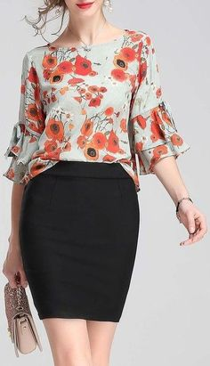 50 Summer Colorful Blouses That Will Inspire You This Summer.- 50 Summer Colorful Blouses That Will Inspire You This Summer Fashion Trends 50 Summer Colorful Blouses That Will Inspire You This Summer Fashion Trends - Blouse Styles, Blouse Designs, Office Outfits, Casual Outfits, Modest Fashion, Fashion Dresses, Lagerfeld, Mode Chic, Summer Fashion Trends