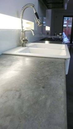 Ikea Sink And Polished Concrete Worktops+Kitchens