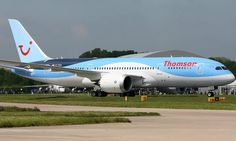 Thomson Airways named best leisure airline in the world by holidaymakers (Pictured is one of the Thomson Airways' Dreamliner's) Boeing 787 Dreamliner, Tui Group, Thomson Airways, Fly Around The World, Cargo Airlines, World Pictures, Private Jet, Military Aircraft, Planes