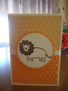 baby card with lion