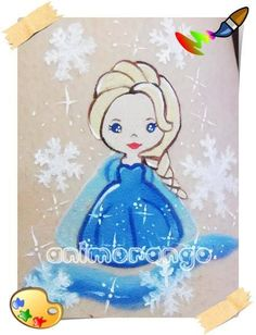 Pintura Facial - Elsa Frozen Face Painting - Elsa Frozen