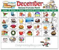 december random holidays calendar