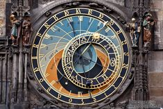 Astronomical clock dial from 1410 by Mikuláš of Kadan and Jan Šindel on the old town square
