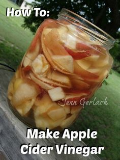 How to make apple cider vinegar. Reduce waste and save money