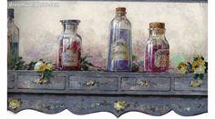 York Wallcoverings Kitchen: Garden Bottled Solutions Wallpaper Border