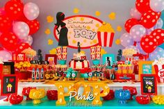 "Sweet Table from a ""Ready To Pop"" Baby Shower via Kara's Party Ideas   KarasPartyIdeas.com (9)"