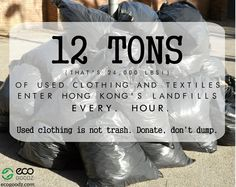 Used Clothing Facts by EcoGoodz, a used clothing wholesaler in the USA