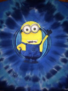 Dispicable Me Yellow Minions Blue Tie Dye Tshirt Boys Size M Excellent Used Cond | eBay