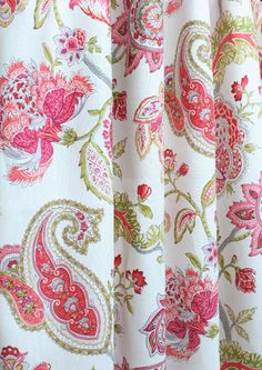 Sonnet, Spring—lovely colors & paisley floral design❣ fabric.com