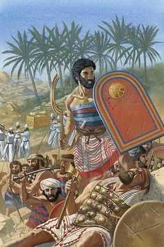 Los hebreos en Jericó.