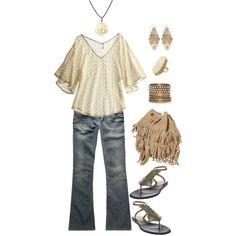 a little bohemian, created by michlee.polyvore.com