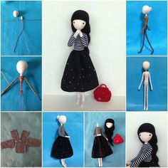 Create this pretty mini doll with wire using fabric scraps or socks for your little girl or room decoration ! What a nice gift idea ! Wire-crafting and doll-making are two skills that go hand in . Softies, Plushies, Peg Doll, Craft Projects, Sewing Projects, Crochet Projects, Doll Tutorial, Sewing Dolls, Wire Crafts