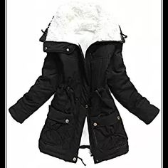 Mewow Women's Winter Mid Length Thick Warm Faux Lamb Wool Lined Jacket Coat  Notice:only sold by Mewow Daily,we did not authorize any third party. Imported Product care:dry clean or hand wash,hang to dry Please refer to the size info below in the Product Description,all the details are measured flat by hand,Not your body size,so there may be 0.5-1in errors Material:cotton fabric upper,faux lambwool fleece lining. Assorted Colors