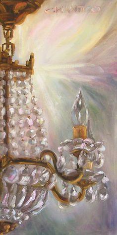 Chandelier du Salon d' Art  10 x 20 by Concetta Antico www.anticofineart.com