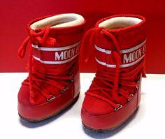 Tecnica Original Moon Boot Boots Kids Toddler Snow Shoes Winter Red EU 23/26 #Tecnica #Boots