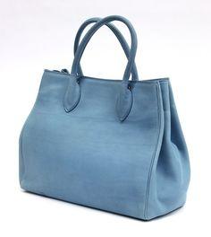 cerulean leather Birkin bag