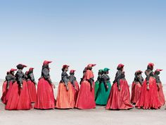nikkofrikko:  The Herero Tribe of NamibiaThe Herero is an ethnic group inhabiting parts of Southern Africa. The majority reside in Namibia, with the remainder found in Botswana and Angola. Its fascinating how their traditional dress is heavily Victorian influenced.Photo Credit: Jim Naughten©