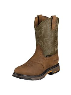 Ariat Workhog Pull on Aged Bark Men's Western Sz 10 D Work Boot 10001188 BNIB   eBay