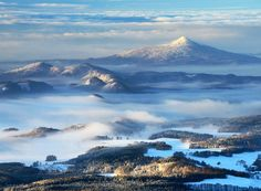 Jizerské mountains with Ještěd hill, Czechia #nature #landscape #Czechia #VisitCzechia