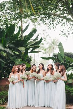 Bridesmaids in light