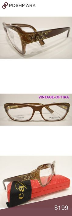 767157d41c0 CAVIAR 6171 EYEGLASSES BROWN MAUVE (C16) CRYSTAL These are 100% Genuine