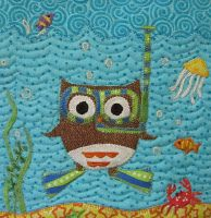 Owl baby #quilt - pretty cute. Follow the link to see the whole thing.