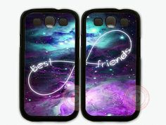 Custom Mint Purple Nebula BFF Best Friends 2 Cases For Samsung Galaxy S7 S6 NOTE #UnbrandedGeneric