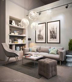 21 Relaxing Living Rooms with Gorgeous, contemporary Sofas - Cretíque