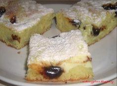 Tvarohový koláč s povidlama